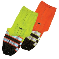 Premium Brilliant Series Hi Viz Mesh Pants Class E from ML Kishigo