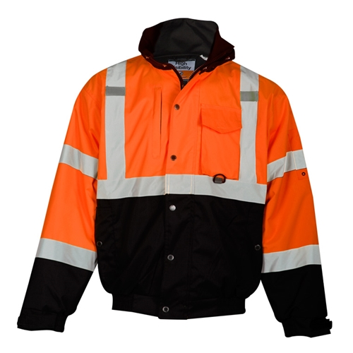 Orange Ripstop Fleece Lined Bomber Jacket from ML Kishigo
