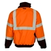 Orange Ripstop Fleece Lined Bomber Jacket - JS131