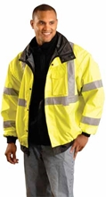 Premium Hi-Viz 4-Way Bomber Jacket from Occunomix