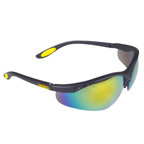 REINFORCER Safety Glasses w/ Fire Mirror Lens