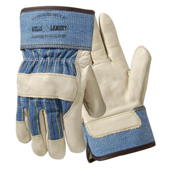 Grain Cowhide Palm Work Gloves from Wells Lamont