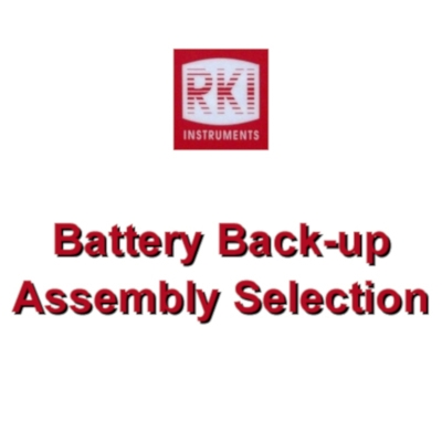 Beacon 110, 200, 410, and 800 Battery Back-up Assembly Selection from RKI Instruments