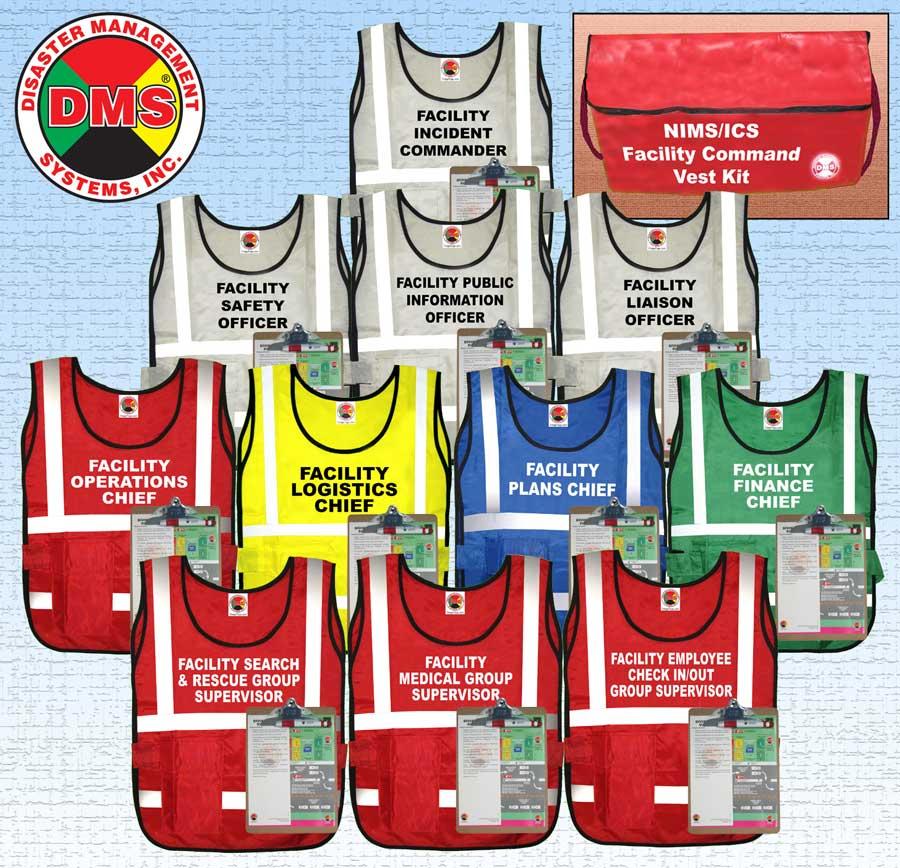 Nims Ics Facility Command Vest Kit Dms 05306 Disaster