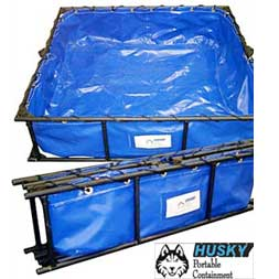 Steel Frame HAZMAT Decon Pools from Husky Portable Containment