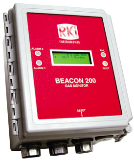 Beacon 200 Two Channel Wall Mount Controller from RKI Instruments