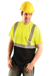 High Visibility Black Bottom T-Shirt from Occunomix